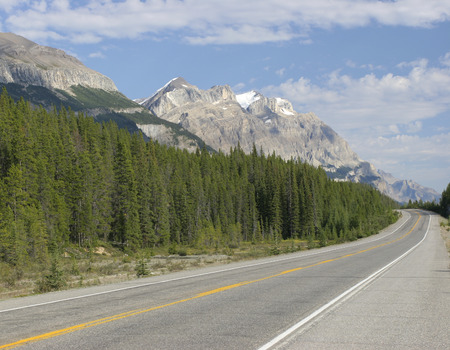 rocky mountains: Transcanada Highway between Rocky Mountains