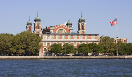 Ellis Island, New York City Редакционное