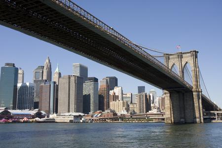 brooklyn bridge: The Brooklyn Bridge, New York City Stock Photo