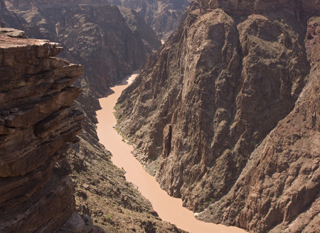 plateau point: Grand Canyon, Colorado River Stock Photo