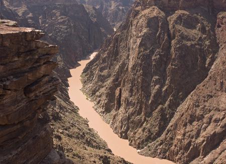 plateau point: Grand Canyon, Colorado River Stock Photo