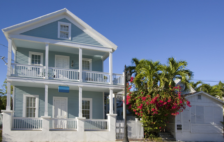 Pink House in Key West, Florida Редакционное