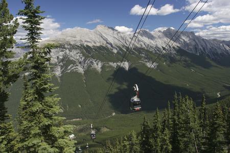 banff: Sulphur Mountain Funicular, Banff National Park, Canada