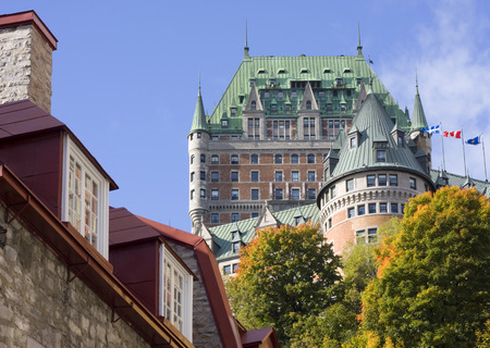 chateau: Chateau Frontenac, Quebec City, Canada Editorial