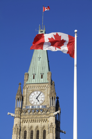 Canadian flag, Parliament, Ottawa