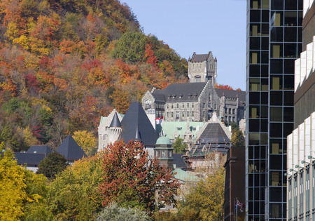 mc: Mc Gill University and Mont Royal in autumn, Montreal Editorial