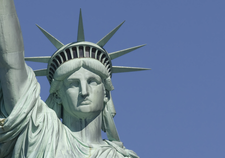 liberty statue: Statue of Liberty, New York City Stock Photo