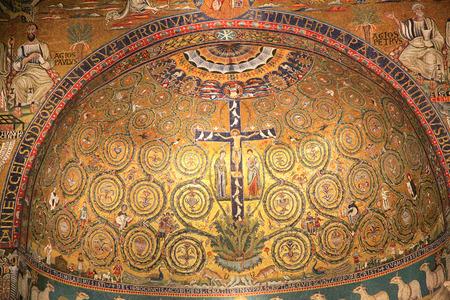 San Clemente church mosaic, Rome, Italy