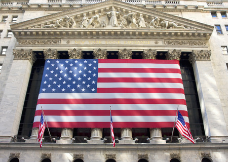 new york stock exchange: Building of New York Stock Exchange. It is the largest exchange in the world by market capitalization. Stock Photo