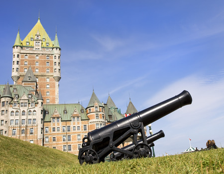 quebec: Chateau Frontenac with canon on the foreground, Quebec City