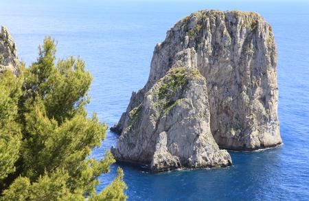 capri: Capri Island, I Fraglioni, Italy