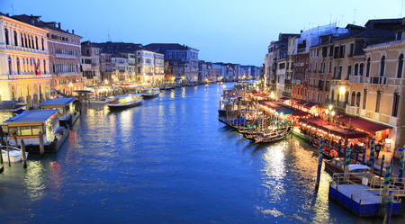 grand canal: Grand Canal at dusk, Venice, Italy