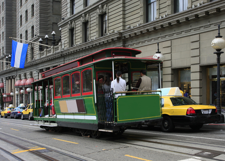 cable car: Cable Car in San Francisco