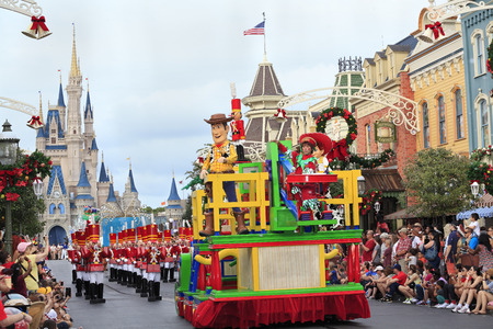 Christmas Parade in Magic Kingdom, Orlando, Florida Editorial