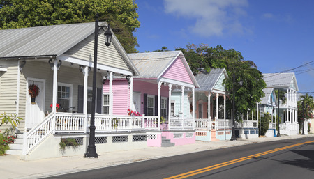 electric avenue: Key West Cottages on Turman Avenue, Florida, USA Stock Photo