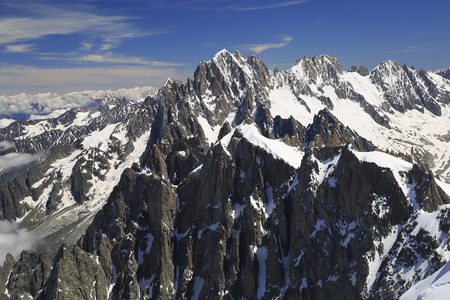 du: French Alps viewed from Aiguille du Midi, Europe