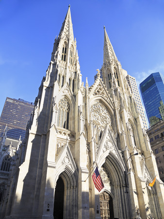 Exterior of St. Patricks Cathedral in New York, New York
