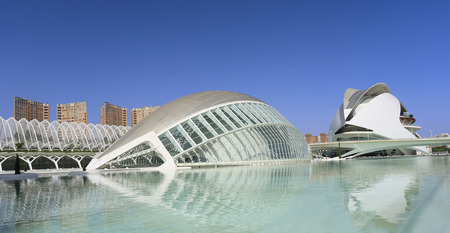 hemispheric: VALENCIA, SPAIN - JULY 24 2017: Hemispheric building.The City of Arts and Sciences is an entertainment-based cultural and architectural complex.