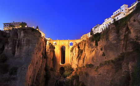 Puente Nuevo Bridge over the Tajo Gorge in Ronda, Spain Stock Photo