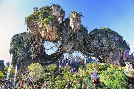 판도라, 아바타 랜드, 동물의 왕국, 월트 디즈니 월드, 올랜도, 플로리다의 떠 다니는 산