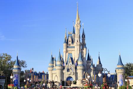 Cinderella Castle in Magic Kingdom, Disney, Orlando, Florida