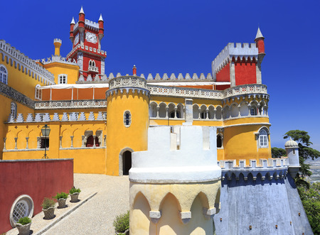 The Pena Palace is a Romanticist castle in the municipality of Sintra, Portugal