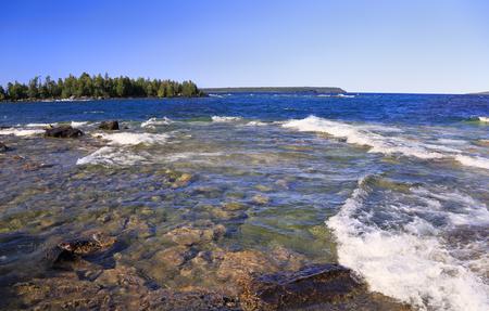 Bruce Peninsula National Park, Lake Huron in Georgian Bay, Canada Stock Photo