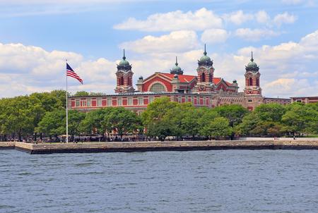 Ellis Island, USA, in New York Bay