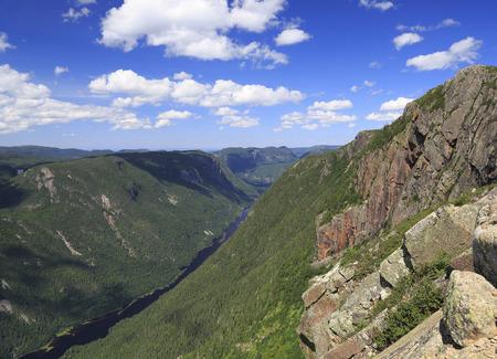 Acropoles des Draveures, Hautes-Gorges-de-la-Rivière-Malbaie National Park Stock Photo