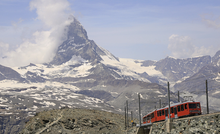 The Gornergrat railway is a mountain rack railway, located in the Swiss canton of Valais. It links the resort village of Zermatt, situated at 1,604 m, to the summit of the Gornergrat.