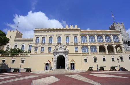 Facade of the Princes Palace of Monaco, residence of Prince of Monaco Editorial