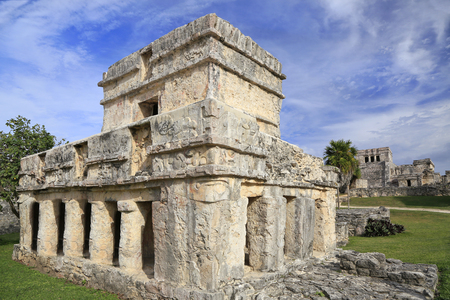 Tulum ruins of Maya Civilization, Yucatan Peninsula in Mexico Stock Photo - 120925384