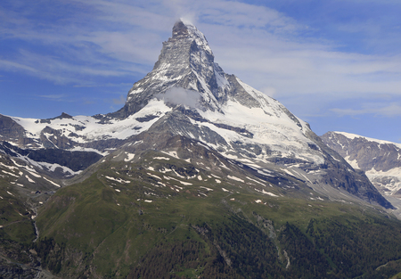 Matterhorn Mountain, Zermatt area in Switzerland