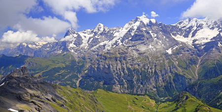 Eiger, Monch and Jungfrau mountains, Switzerland Alps