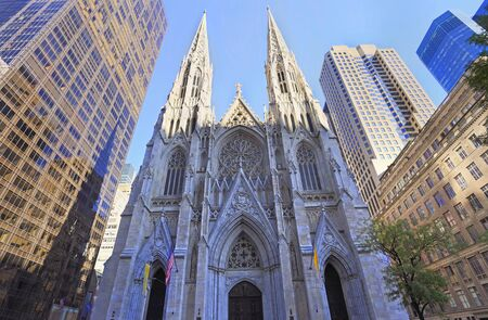 St. Patrick's Cathedral exterior view in New York City