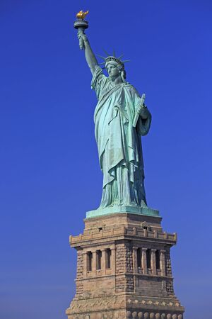 The statue of Liberty with blue sky on the background, New York City, USA