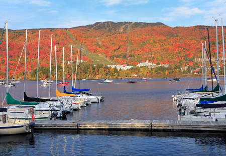 Mont Tremblant in autumn, Quebec