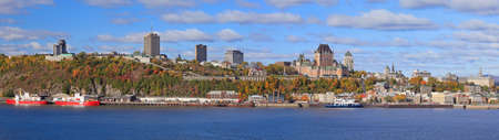 Panoramic view of Quebec City in autumn, Canada