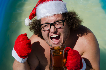 Funny Santa. Summer, vacation.