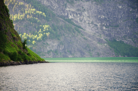Fjords of Norway. Beautiful views. Beauty, silence and tranquility