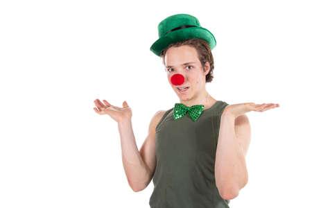 Young funny guy. Birthday Clown. 免版税图像