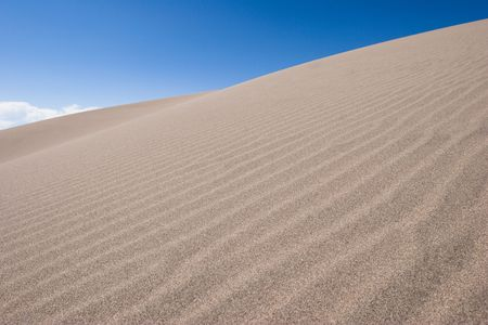 Sand Wave in Great Sand Dunes National Park and Preserve Colorado USA Stock Photo