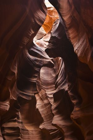Rich colored layers of antelope canyon, geological formation in Arizona USA Stock Photo