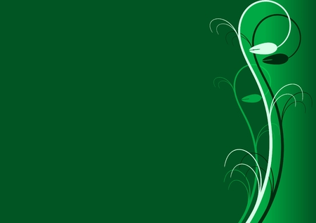 verdant: abstract floral card with green background for text