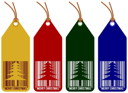 christmas tags - set isolated on white background Vector