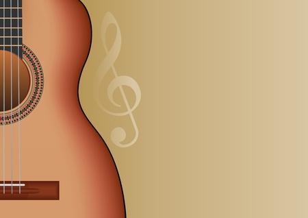 guitarra clásica: Fondo de m�sica con guitarra y lugar para texto