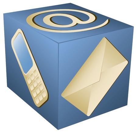 vector web pictogram voor contact info op witte achtergrond Vector Illustratie