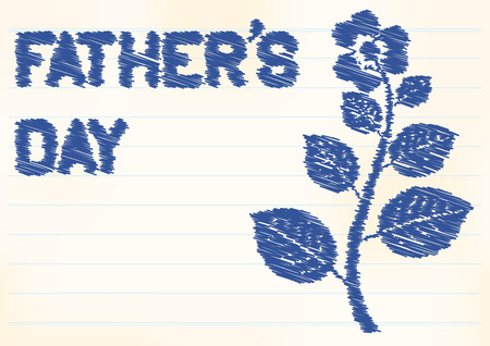 fathers day background: fathers day background with zigzag text and flower
