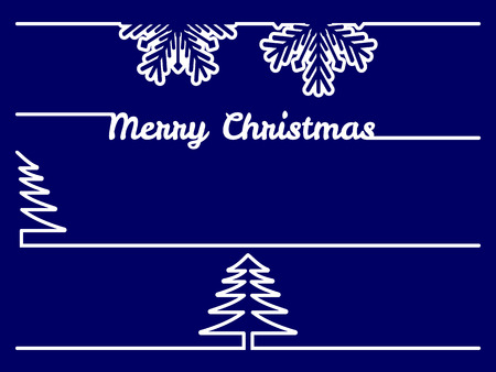 separators: vector set of four christmas borders or dividers on blue background