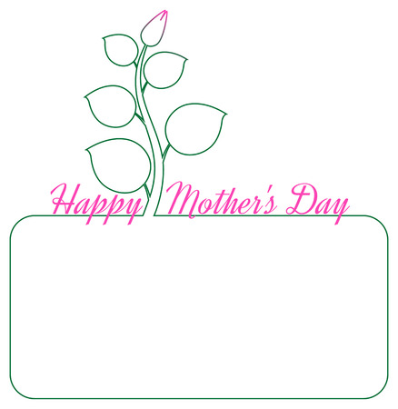 simple purity flowers: minimalist mothers day background with place for your text, isolated illustration with silhouette of flower Illustration